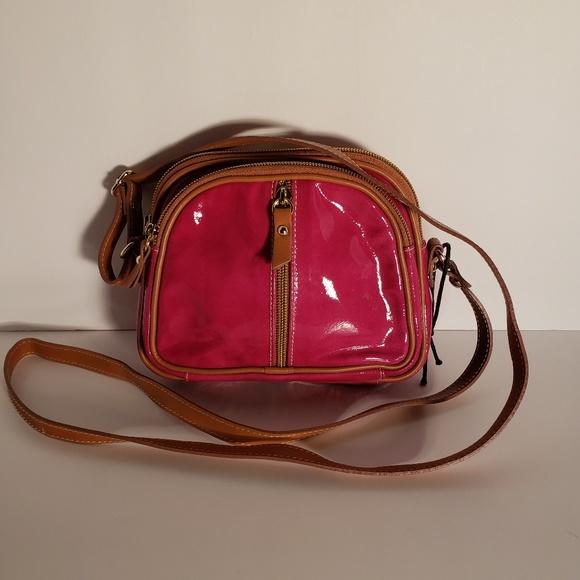 Valentina Handbags - Valentina Hot Pink Patent Leather Crossbody bag